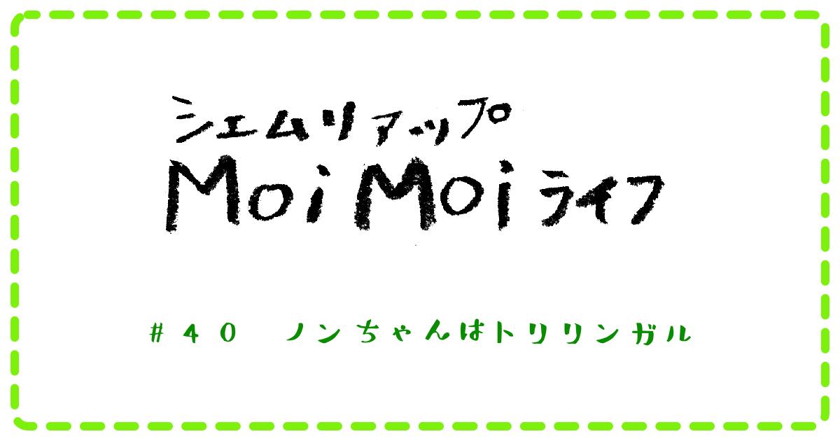 Moi Moi ライフ #40 ノンちゃんはトリリンガル