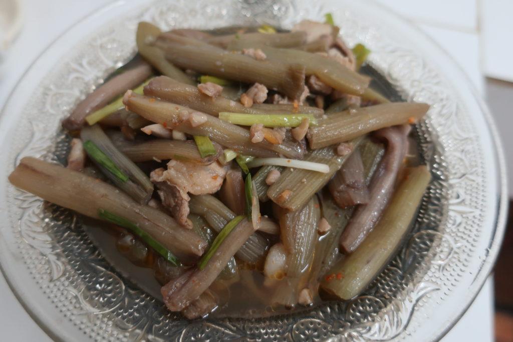 茎を使った炒め物