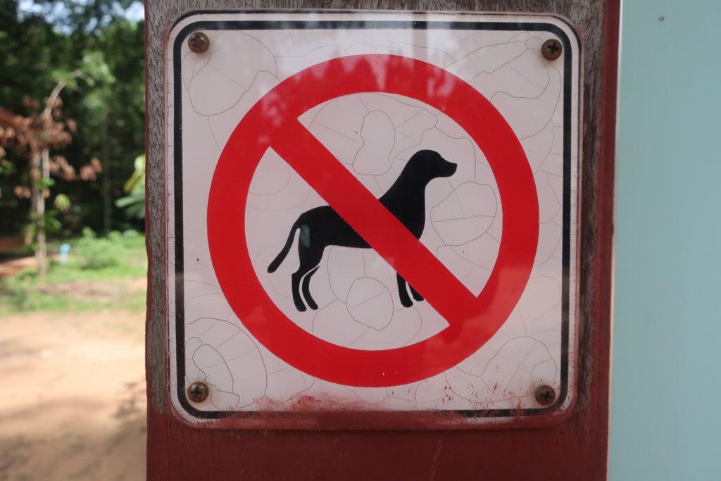 犬禁止の看板