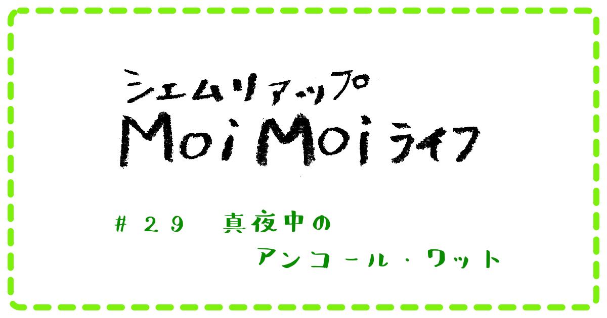 Moi Moi ライフ #29 真夜中のアンコール・ワット