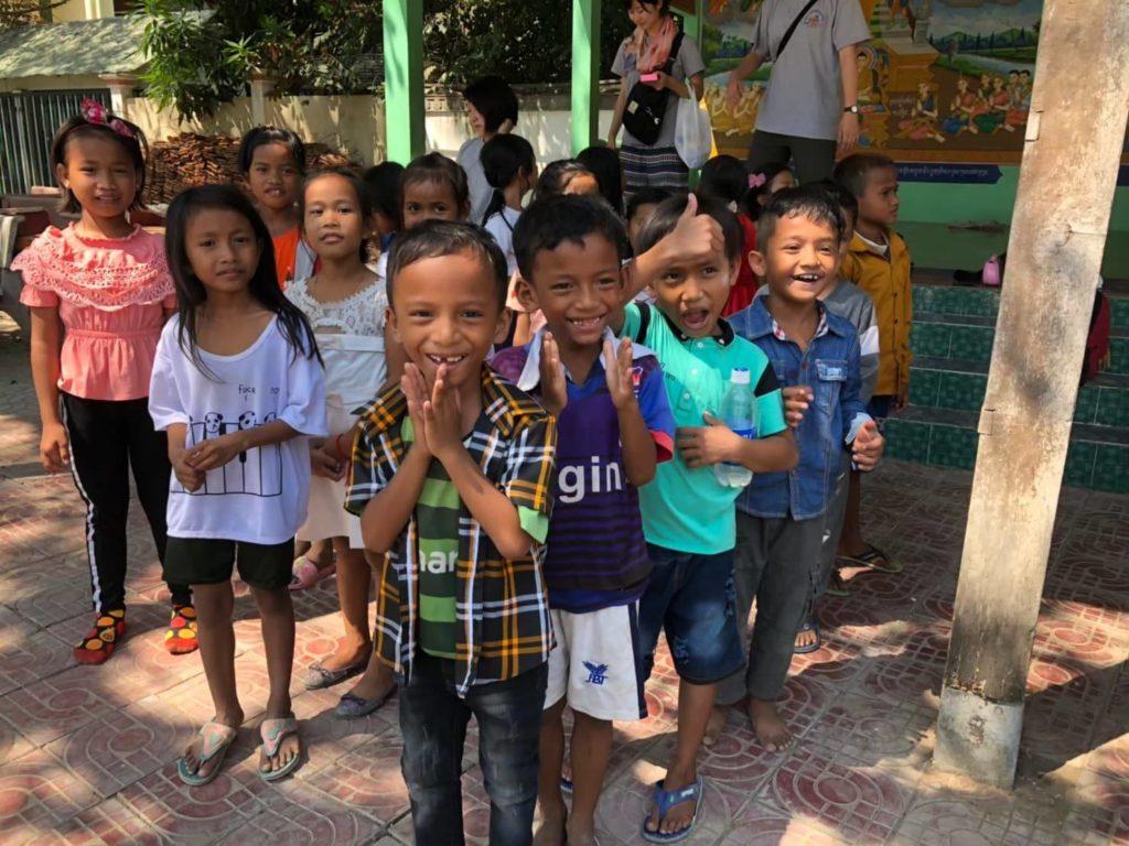 KCS が支援している27人の子供たち。初めての運動会が開催された時の様子