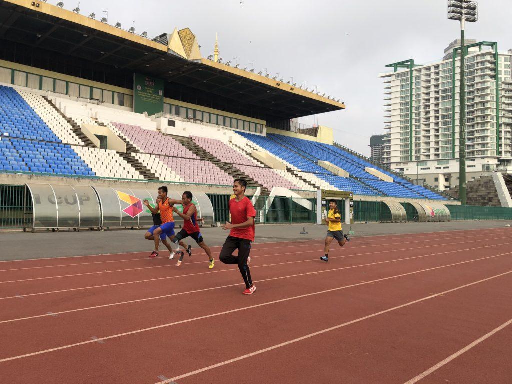 毎日トレーニングに励む ASEAN Para Games に出場予定の選手