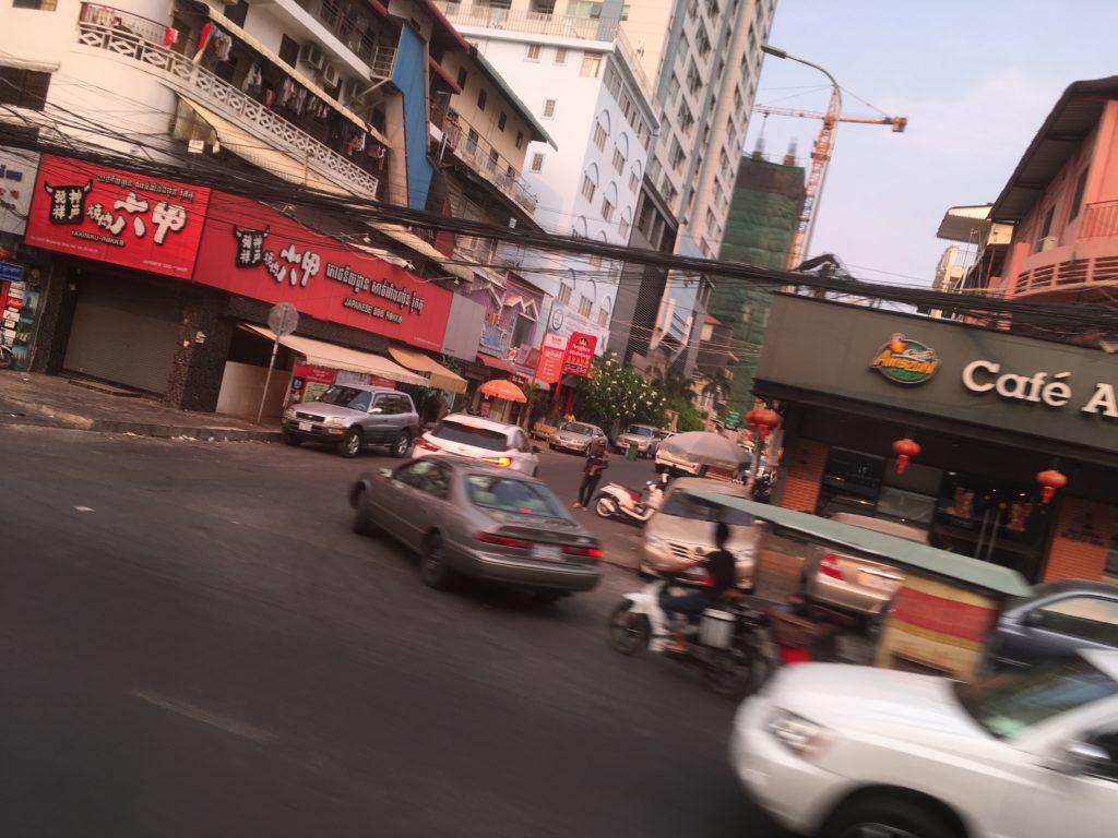 バスから見たプノンペンの景色