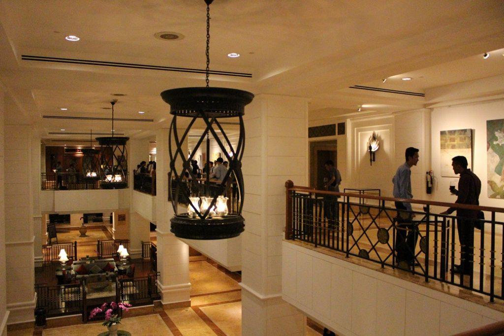 会場となったインターコンチネンタルホテル2階フロア